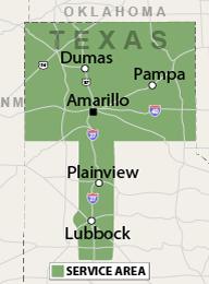 Our Texas Service Area